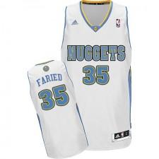 NBA Kenneth Faried Swingman Men's White Jersey - Adidas Denver Nuggets &35 Home