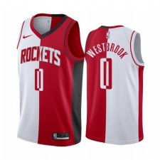 Houston Rockets Russell Westbrook Rouge blanc Split Maillot