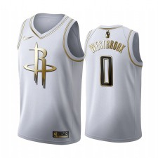 Houston Rockets Russell Westbrook Blanc Or Edition Maillot