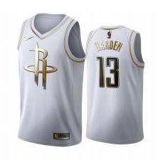 Houston Rockets James Harden Blanc Golden Edition Maillot