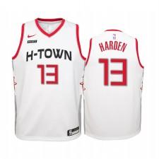 Maillot James Harden Houston Rockets Blanc City Edition 2019-20 - Enfant
