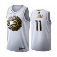 Maillot Atlanta Hawks Trae Young Blanc Golden Edition