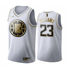 Los Angeles Clippers Lou Williams Blanc Golden Édition Maillot