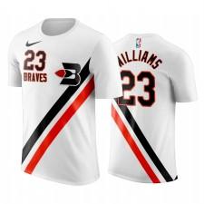 Lou Williams LA Clippers Blanc Classique Édition Buffalo Braves T-Chemise