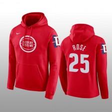 Derrick Rose Detroit Pistons Hommes Rouge City Pull Capuche