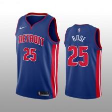Hommes Derrick Rose Detroit Pistons Maillot Icon Edition 2019-20