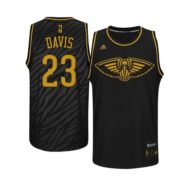 ea1bf4017 NBA Anthony Davis Authentic Men s Black Jersey - Adidas New Orleans Pelicans   23 Precious Metals Fashion