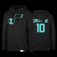Utah Jazz Mike Conley Jr. 47 Marque Luminous Diamond Bleu Noir Hoodie