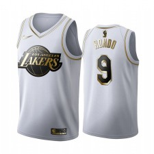 Los Angeles Lakers Rajon Rondo Blanc Golden Édition Maillot