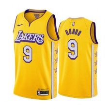 Rajon Rondo Los Angeles Lakers 2019-20 City Édition Maillot Jaune