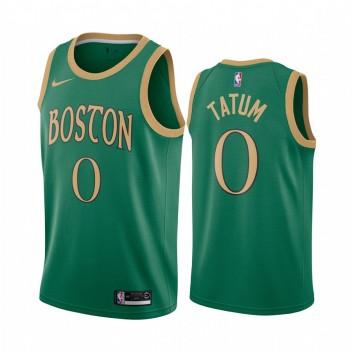 Boston Celtics Jayson Tatum Vert 2019-20 City Édition Maillot