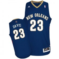 NBA Anthony Davis Swingman Men's Navy Blue Jersey - Adidas New Orleans Pelicans &23 Road