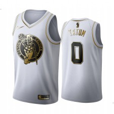 Boston Celtics Jayson Tatum Blanc Golden Édition Maillot