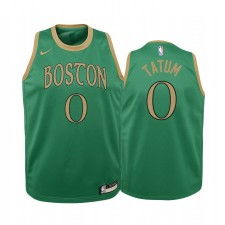 Jayson Tatum Boston Celtics 2019-20 City Enfants Maillot - Kelly Vert