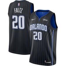 Maillot réplique Nike Markelle Fultz noir Orlando Magic Swingman Sponsor Patch pour homme - Édition Icône