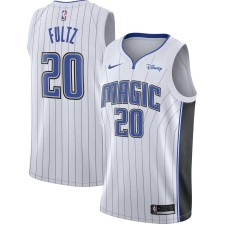 Maillot Nike Markelle Fultz White Orlando Magic Swingman Sponsor Patch Replica pour Homme - Édition Association