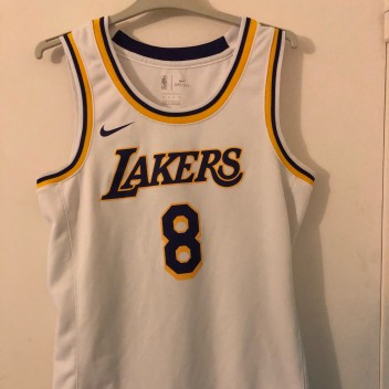 Hommes Los Angeles Lakers Kobe Bryant Blanc Association Edition Maillot