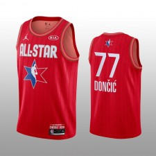 Dallas Mavericks Luka Doncic 2020 NBA All-Star Jeu Western Conference Maillot rouge