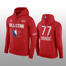 Luka Doncic Dallas Mavericks Rouge 2020 NBA All-Star Jeu Western Conference Club Pull Over Hoodie