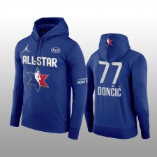 Luka Doncic Dallas Mavericks Marine 2020 NBA All-Star Jeu Western Conference Club Pull Over Hoodie