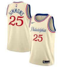 Nike Ben Simmons Philadelphia 76ers Crème 2019/20 Maillot Swingman Fini - City Edition