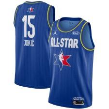 Jordan Brand Nikola Jokic Bleu 2020 NBA All-Star Jeu Swingman Fini Maillot