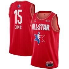 Jordan Brand Nikola Jokic Rouge 2020 NBA All-Star Jeu Swingman Fini Maillot