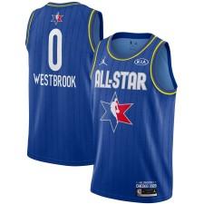 Jordan Brand Russell Westbrook Bleu 2020 NBA All-Star Jeu Swingman Fini Maillot