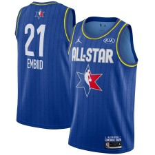 Jordan Brand Joel Embiid Bleu 2020 NBA All-Star Jeu Swingman Fini Maillot