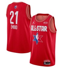 Jordan Brand Joel Embiid Rouge 2020 NBA All-Star Jeu Swingman Fini Maillot