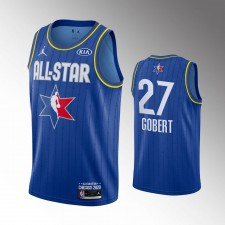 Hommes Utah Jazz Rudy Gobert 2020 NBA All-Star Jeu Bleu Finished Maillot