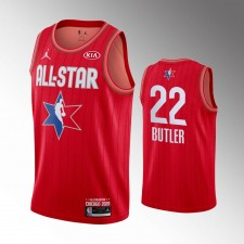 Hommes Miami Heat Jimmy Butler 2020 NBA All-Star Jeu Rouge Finished Maillot