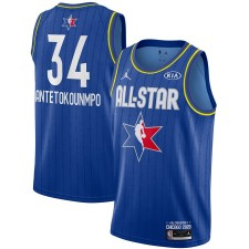 Jordan Brand Giannis Antetokounmpo Bleu 2020 NBA All-Star Jeu Swingman Fini Maillot