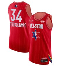 Jordan Brand Giannis Antetokounmpo Red 2020 NBA All-Star Jeu Swingman Fini Maillot