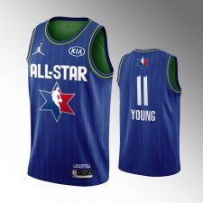 Hommes Brooklyn Nets Kyrie Irving 2020 NBA All-Star Jeu Bleu Fini Maillot