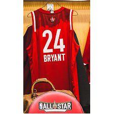 L'héritage de Kobe Bryant, célébré lors du week-end des étoiles - Maillot rouge Kobe Bryant