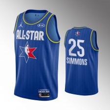 Philadelphie 76ers masculins Ben Simmons 2020 NBA All-Star Jeu Bleu Fini Maillot