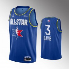 Hommes Los Angeles Lakers Anthony Davis 2020 NBA All-Star Jeu Bleu Finished Maillot