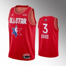 Hommes Los Angeles Lakers Anthony Davis 2020 NBA All-Star Jeu Rouge Finished Maillot