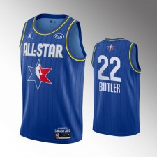 Hommes Milwaukee Bucks Khris Middleton 2020 NBA All-Star Jeu Bleu Fini Maillot