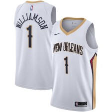 Nike Zion Williamson New Orleans Pelicans Blanc 2019/2020 Swingman Maillot - Association Édition