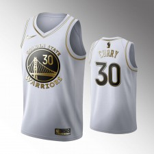 Golden State Warriors Stephen Curry Blanc 2019-20 Golden Édition Maillot
