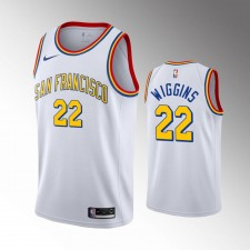 Golden State Warriors Andrew Wiggins 2019-20 Bois dur Classiques Blanc Maillot