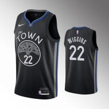 Hommes Golden State Warriors Andrew Wiggins Noir 2019-20 Maillot - Ville