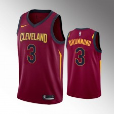 Les Cleveland Cavaliers masculins Andre Drummond Wine 2019-20 Maillot - Icône