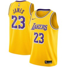 Nike LeBron James Los Angeles Lakers Or Swingman Maillot - Édition Icône