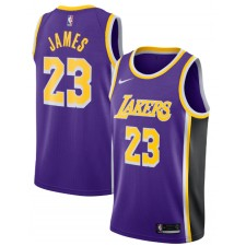 Nike LeBron James Los Angeles Lakers Violet Réplique Swingman Maillot - Édition Déclaration