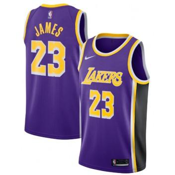 Nike LeBron James Los Angeles Lakers Violet Réplique Swingman Maillot - Édition Déclaration