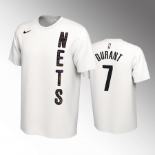 Hommes Kevin Durant Brooklyn Nets Blanc Earned Edition 2019-20 T-Chemise