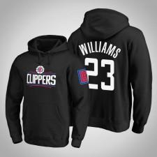 Los Angeles Clippers Lou Williams Noir Primary Team Logo Sweat à capuche léger